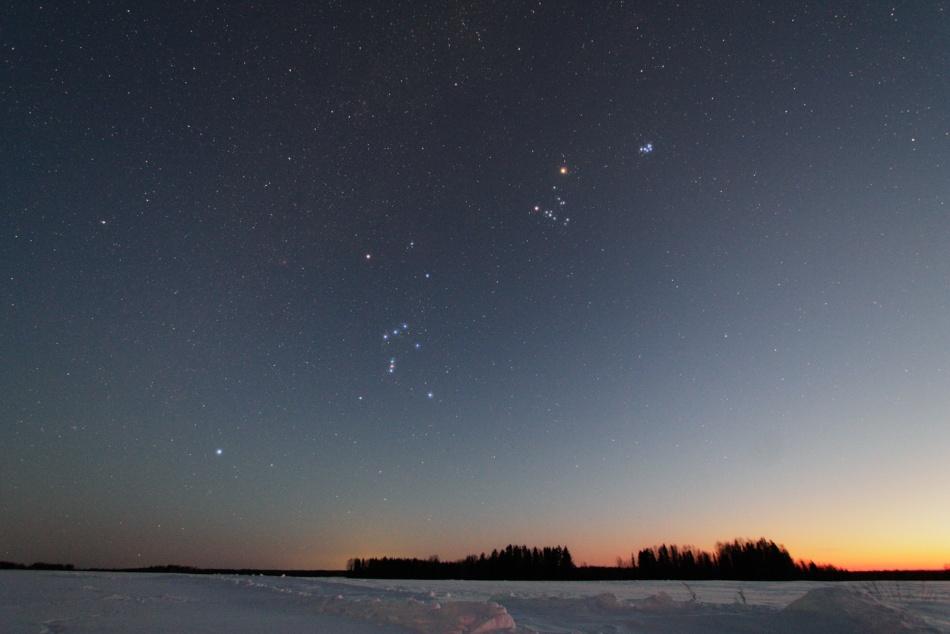 Гиады и созвездие Ориона