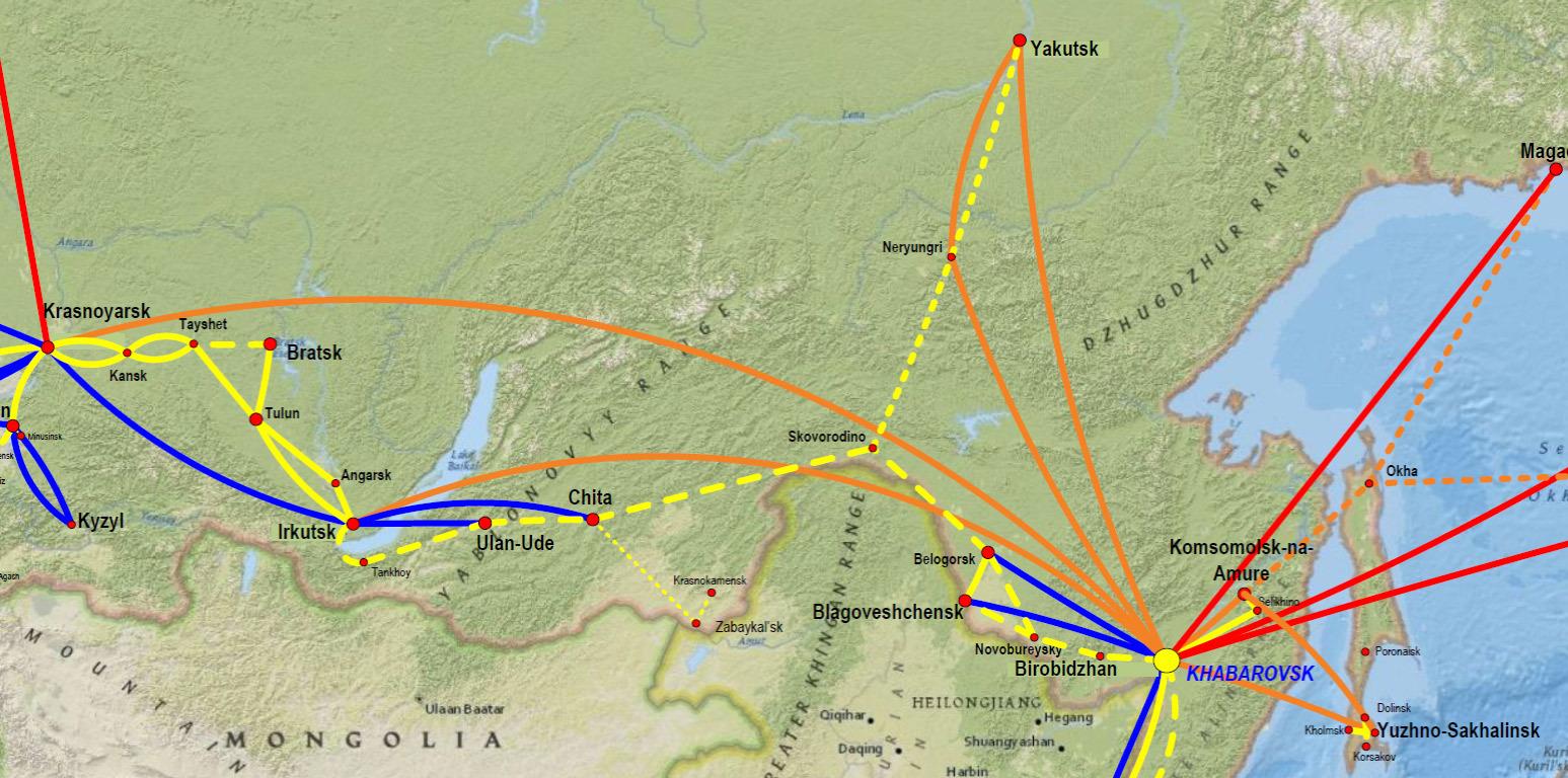 Схема трассы хабаровск-владивосток