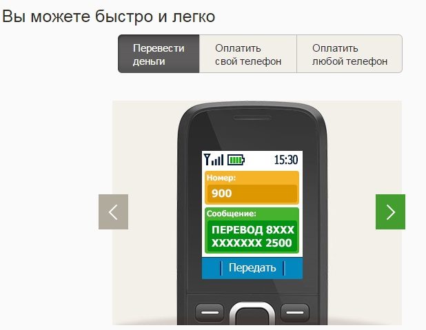 Как сделать перевод мобильный банк сбербанк