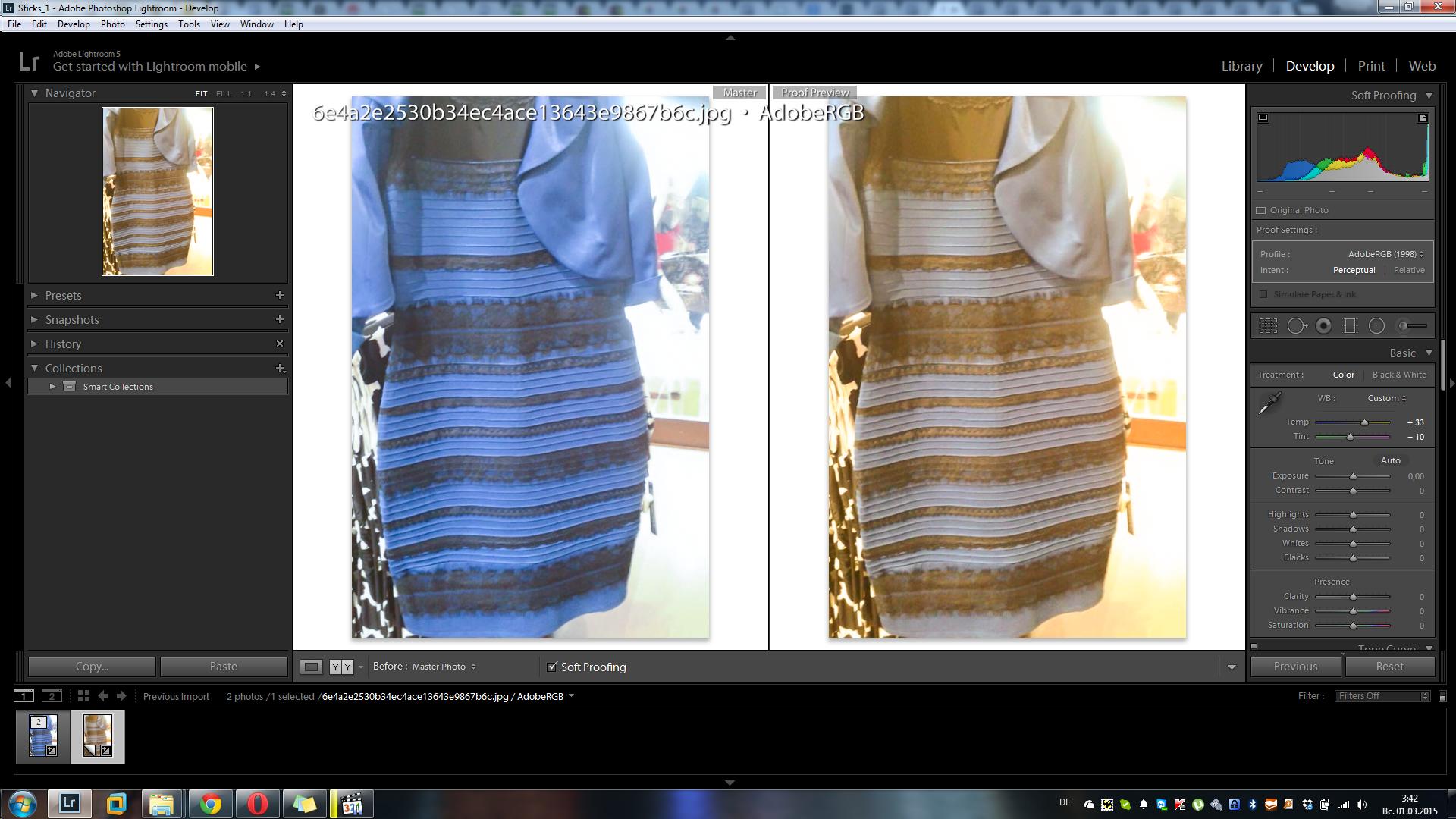 Какой цвет платья видишь на