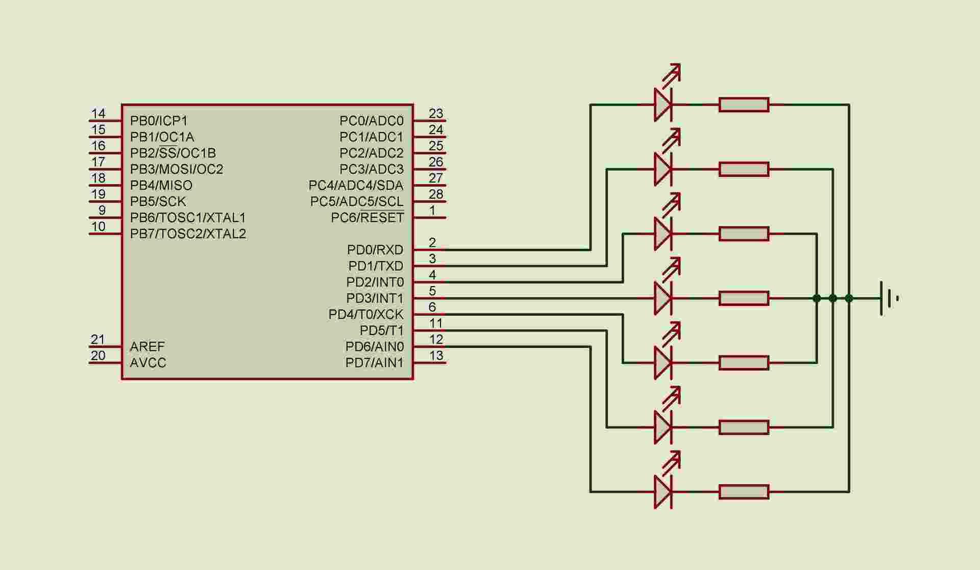 Схемы включения семисегментных индикаторов