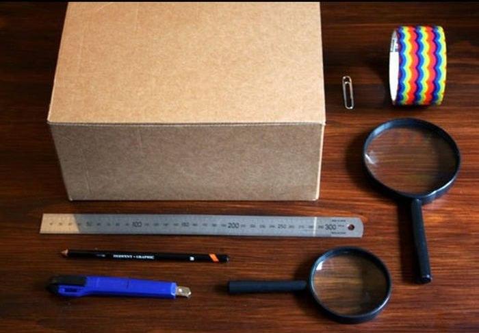Как сделать самодельный проектор из коробки
