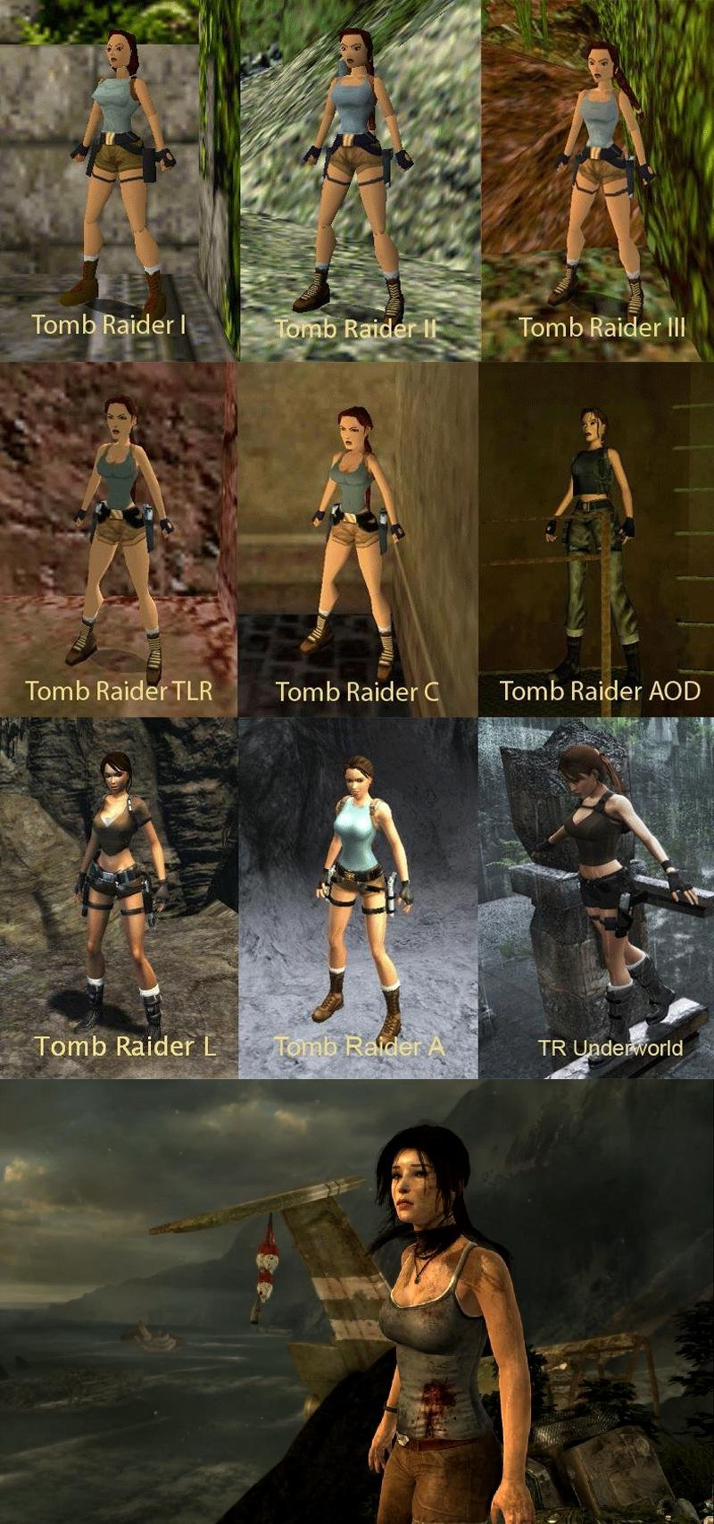 Tomb raider underworld boobs cartoon animation sister