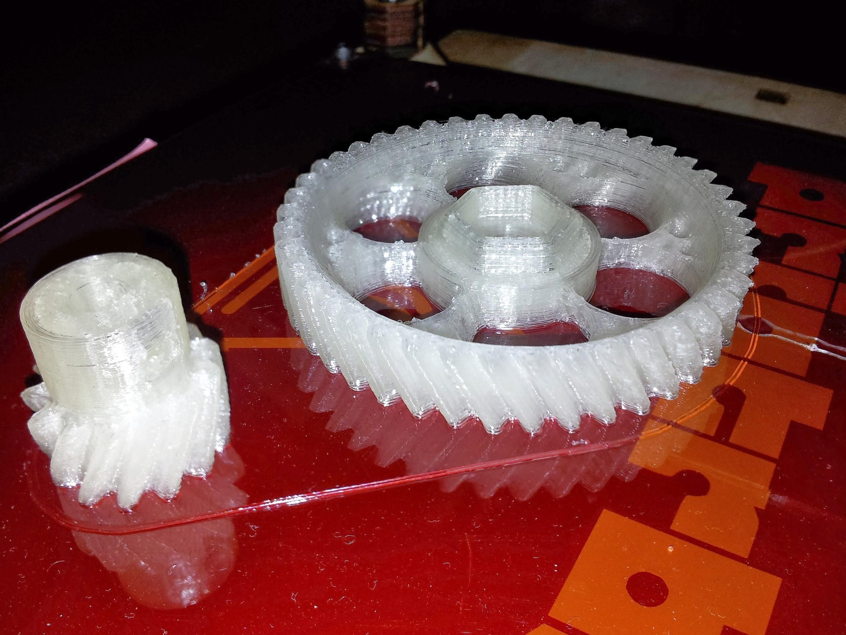 Как из пластика сделать шестеренку