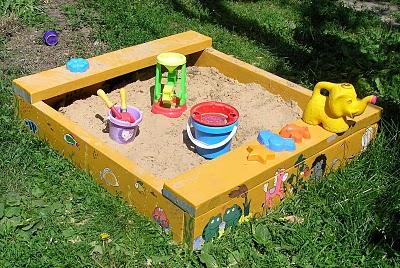 Песочница своими руками фото для детей