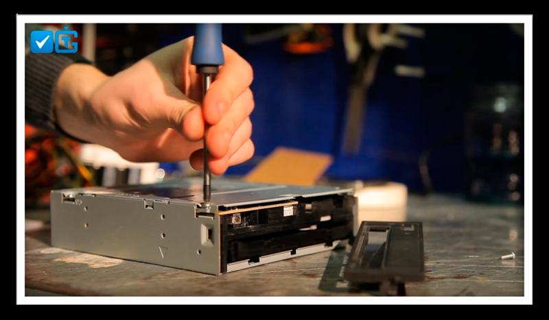 Как с дисковода сделать лазер
