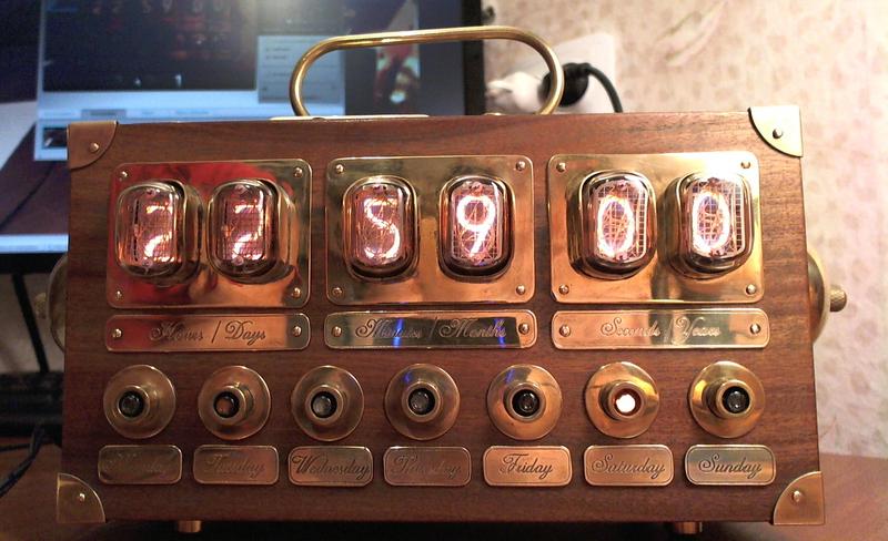 Газоразрядный индикатор часы своими руками 813