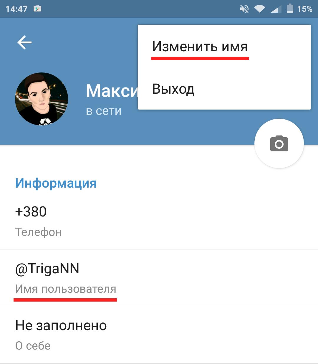 Ник в Телеграмм : получить, добавить, изменить имя в Telegram Узнать ID 95