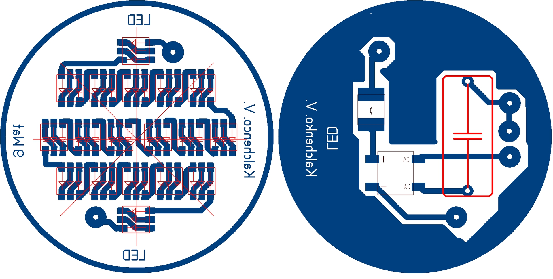 схема на 6 светодиодов от220в