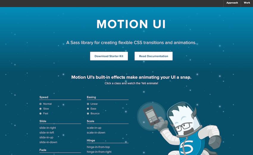 Как создать анимацию и переходы с помощью Motion UI