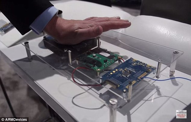 In the photo, Andreas Yeland powered the SMART SAM L21 chip from the heat of his hand
