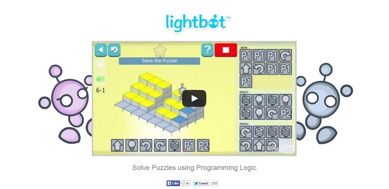 Lightbot: пример задания