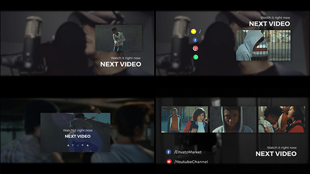 AE模板 网络视频扁平化风格包装工具包