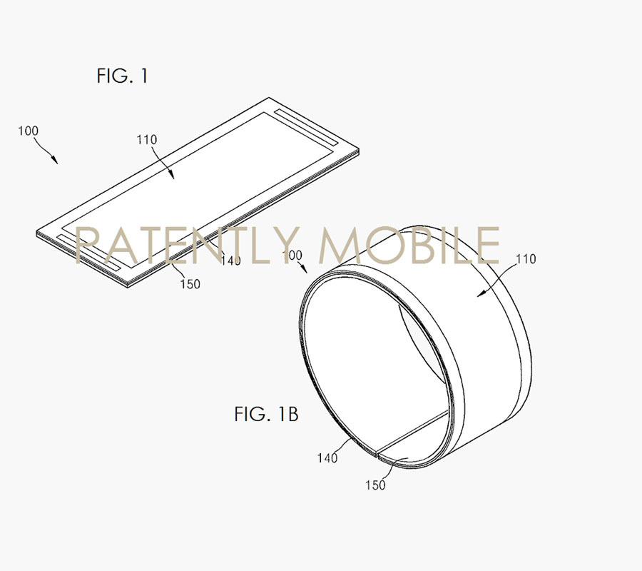 Samsung запатентовал новый дизайн устройств с гибким дисплеем
