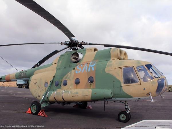 Вертолёт Ми-8 в авиамузее в Гатове, Германия