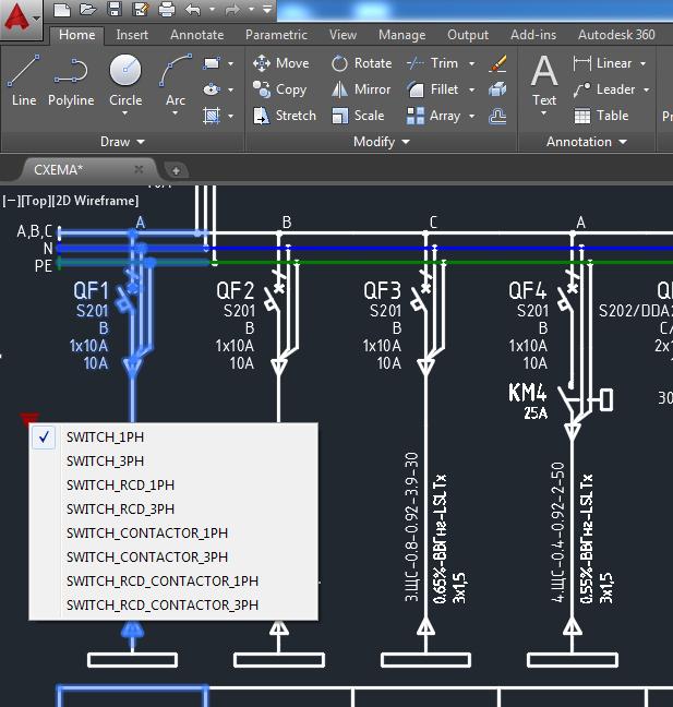 Электрические схемы в Autocad с помощью .NET