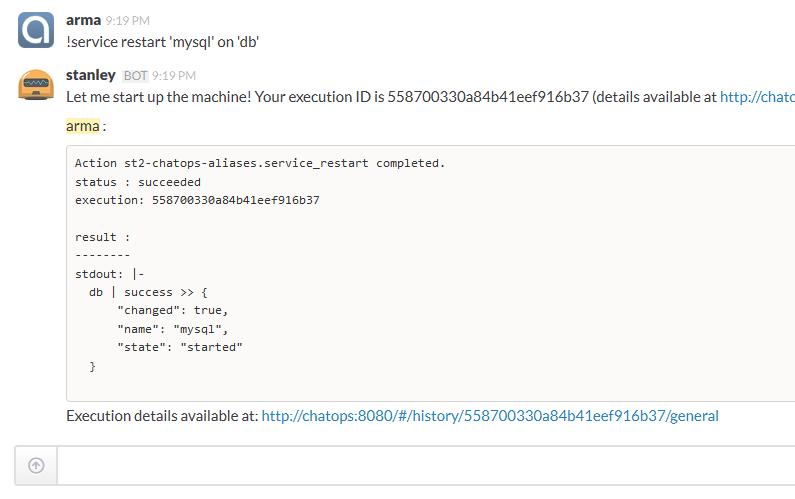 Перезавантаження MySQL сервісу на віддалених серверах - ChatOps