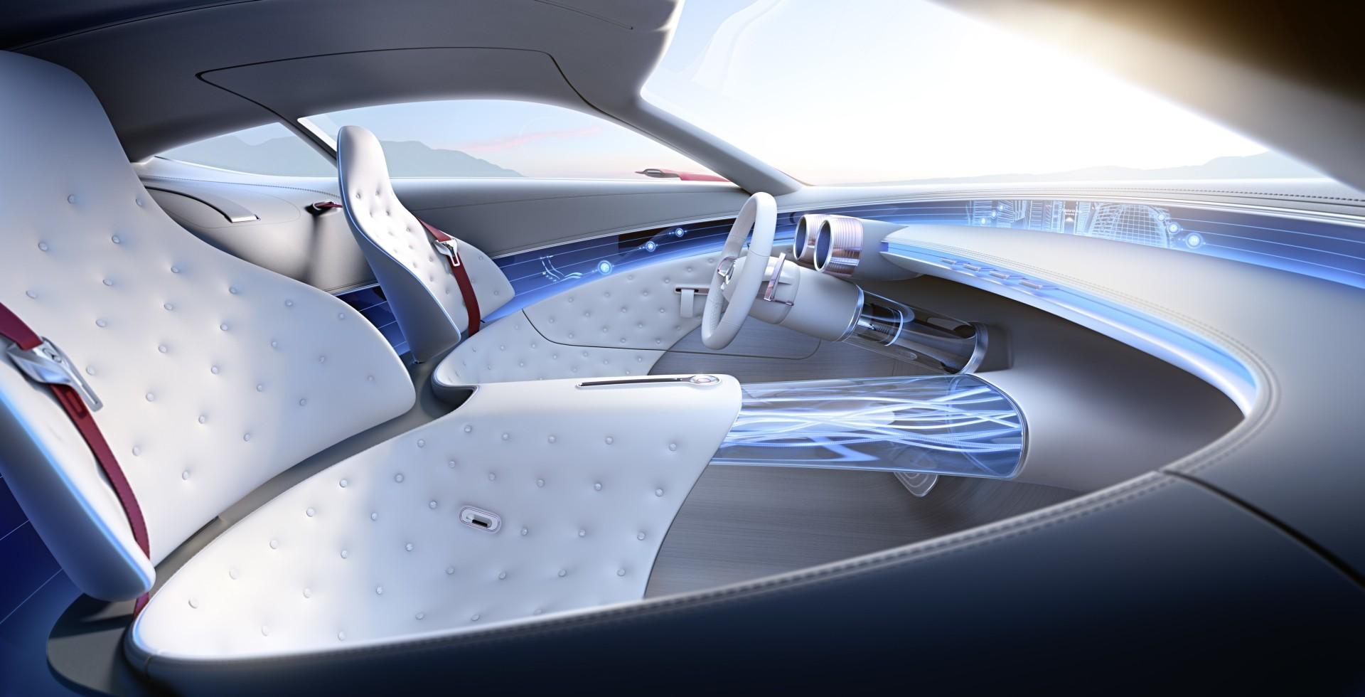 Проект шестиметрового электрокара Vision Mercedes-Maybach 6