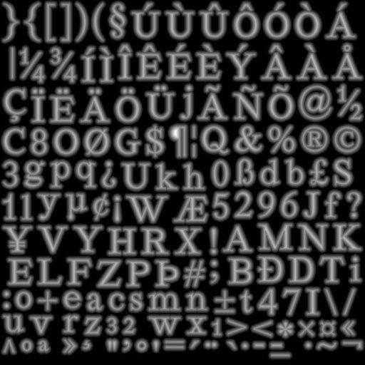 Рендеринг UTF-8 текста с помощью SDF шрифта / Хабр
