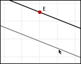 Parallel line through a given point