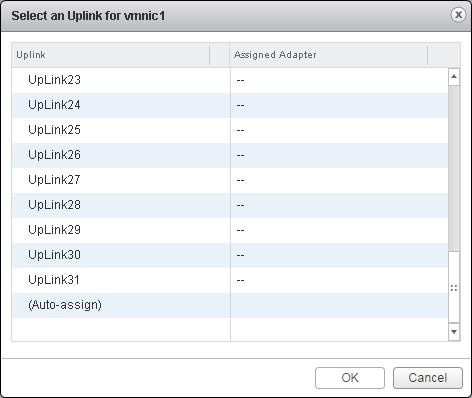 vcsa 5.5 uplinks