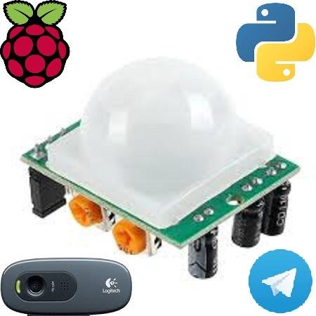 Простой вариант системы видеонаблюдения в помещении с использованием датчика движения и Python на платформе Raspberry