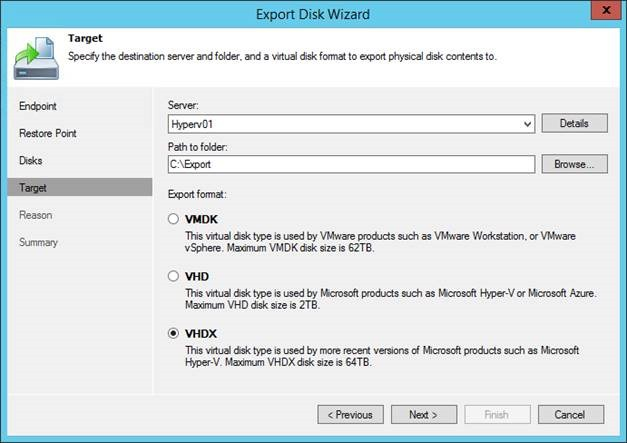Possibilities of recovery of physical machines from backups by means of Veeam Endpoint Backup FREE