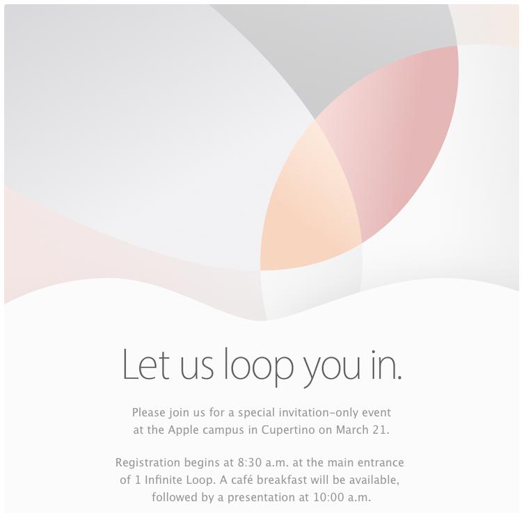 Текстовая трансляция Apple Special Event