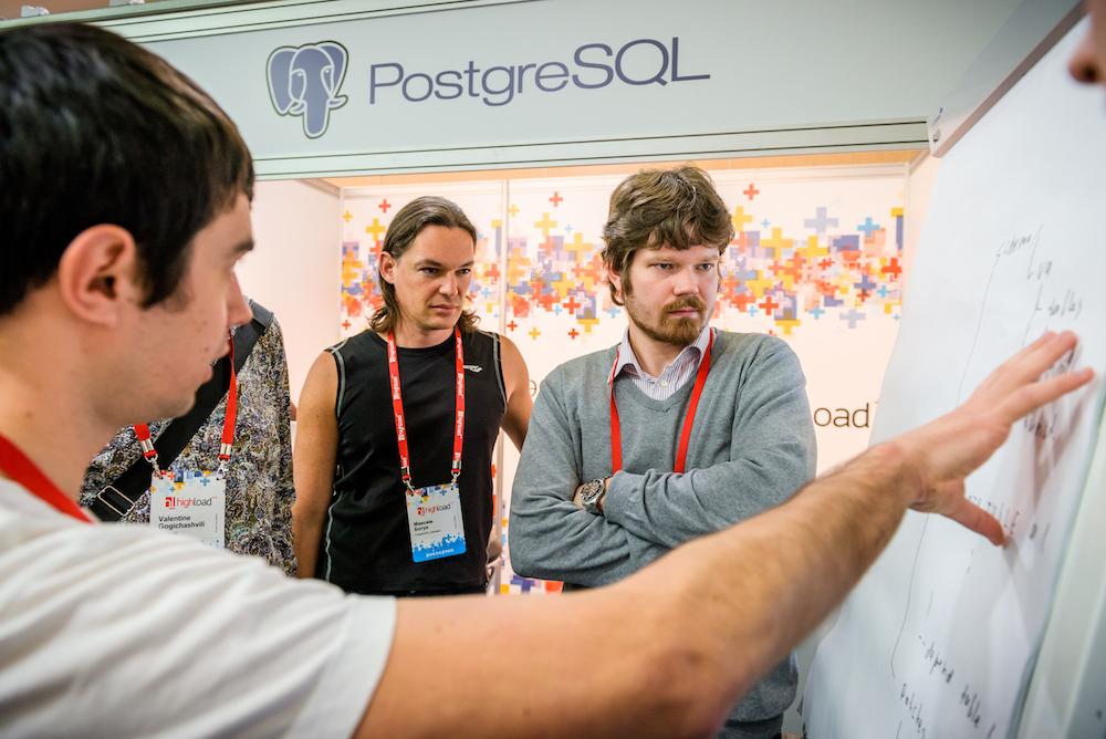 PostgreSQL и задачи, с ней связанные, на HighLoad++