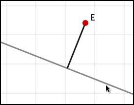 Perpendicular segment through a free point