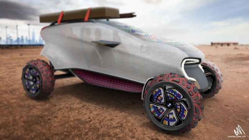 Maasaica – 3D-печатный биоорганический автомобиль
