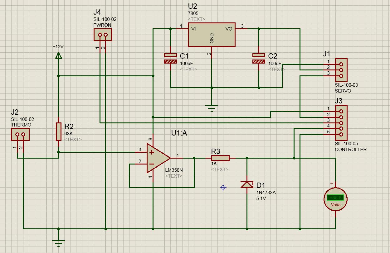 схема регулируемого термодатчика