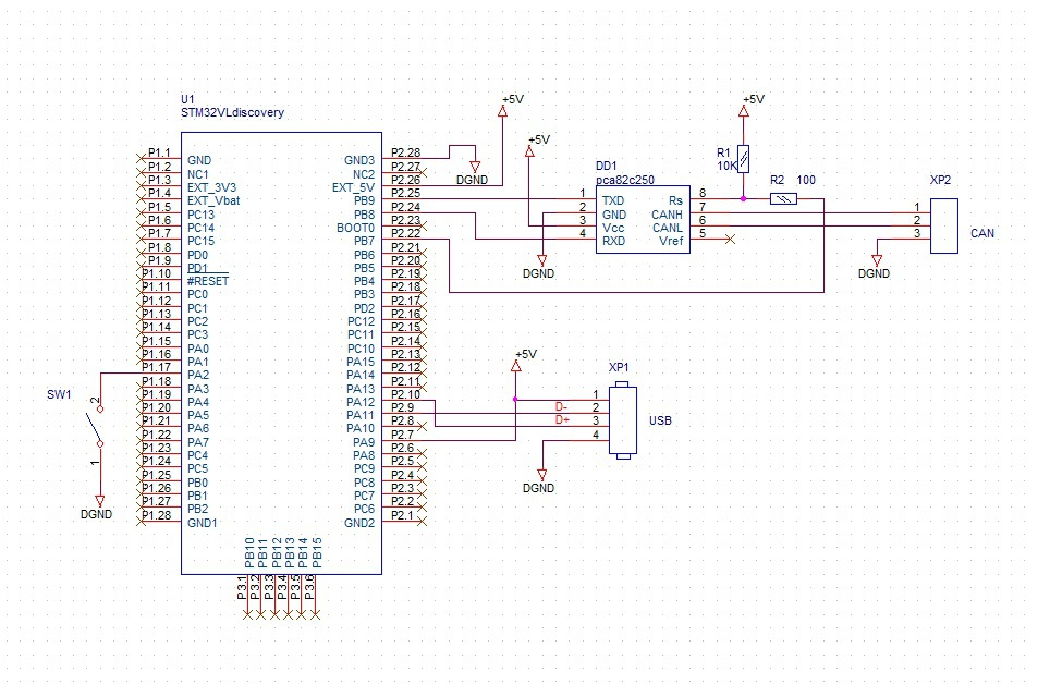 Схема can-шины адаптер