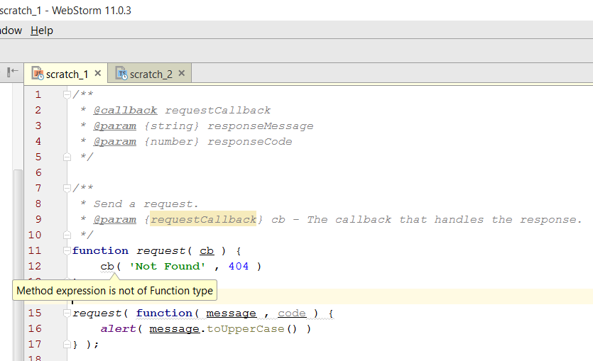 WebStorm не понимает JavaScript