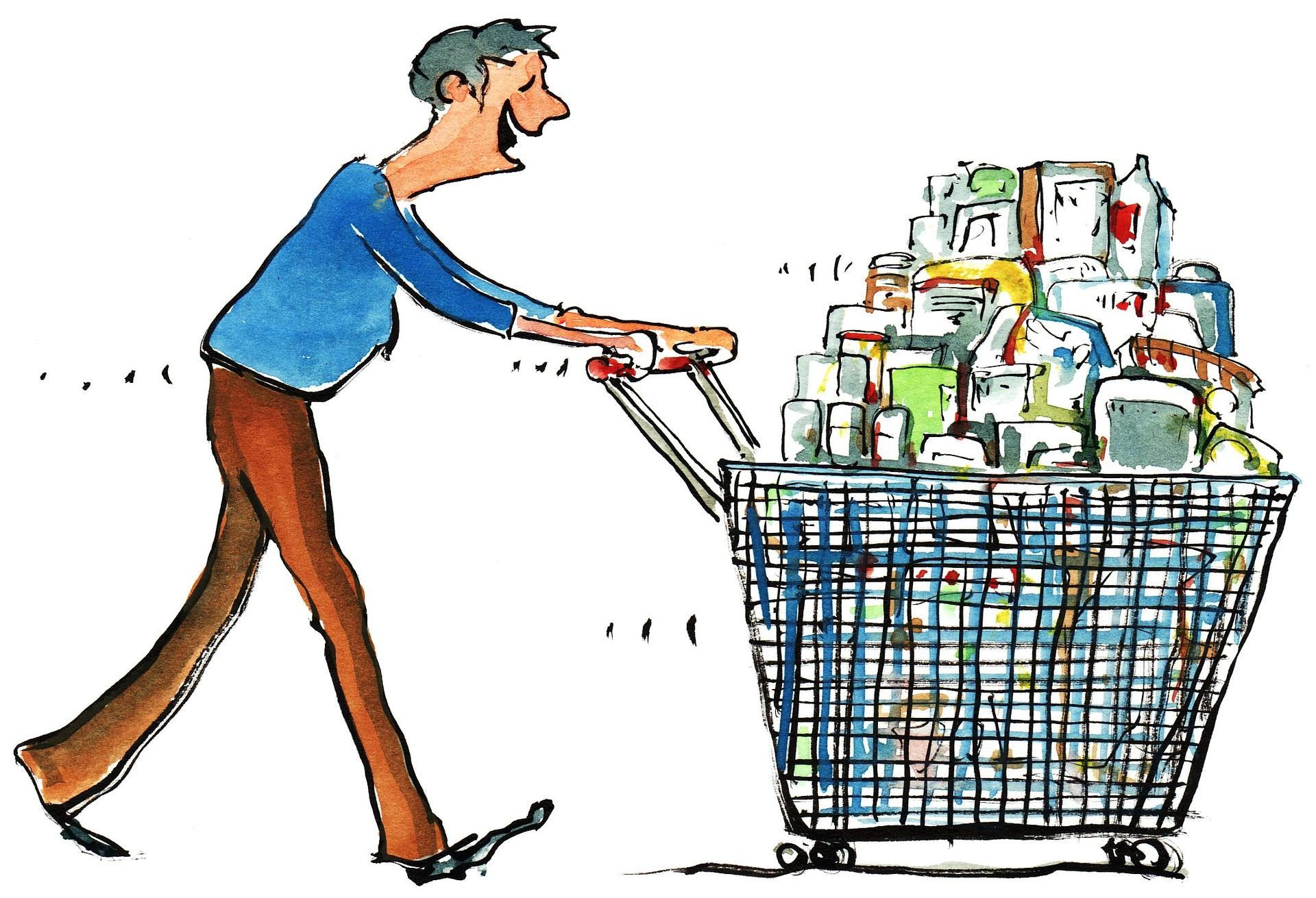 Смешные картинки про походы по магазинам