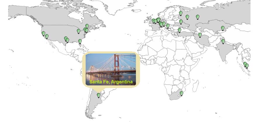 Проверьте uptime Вашего сайт из Южной Америки