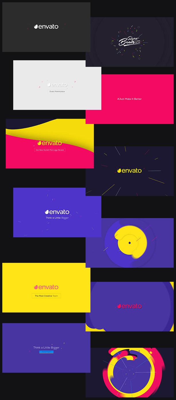 Flat Logo Animations - 5