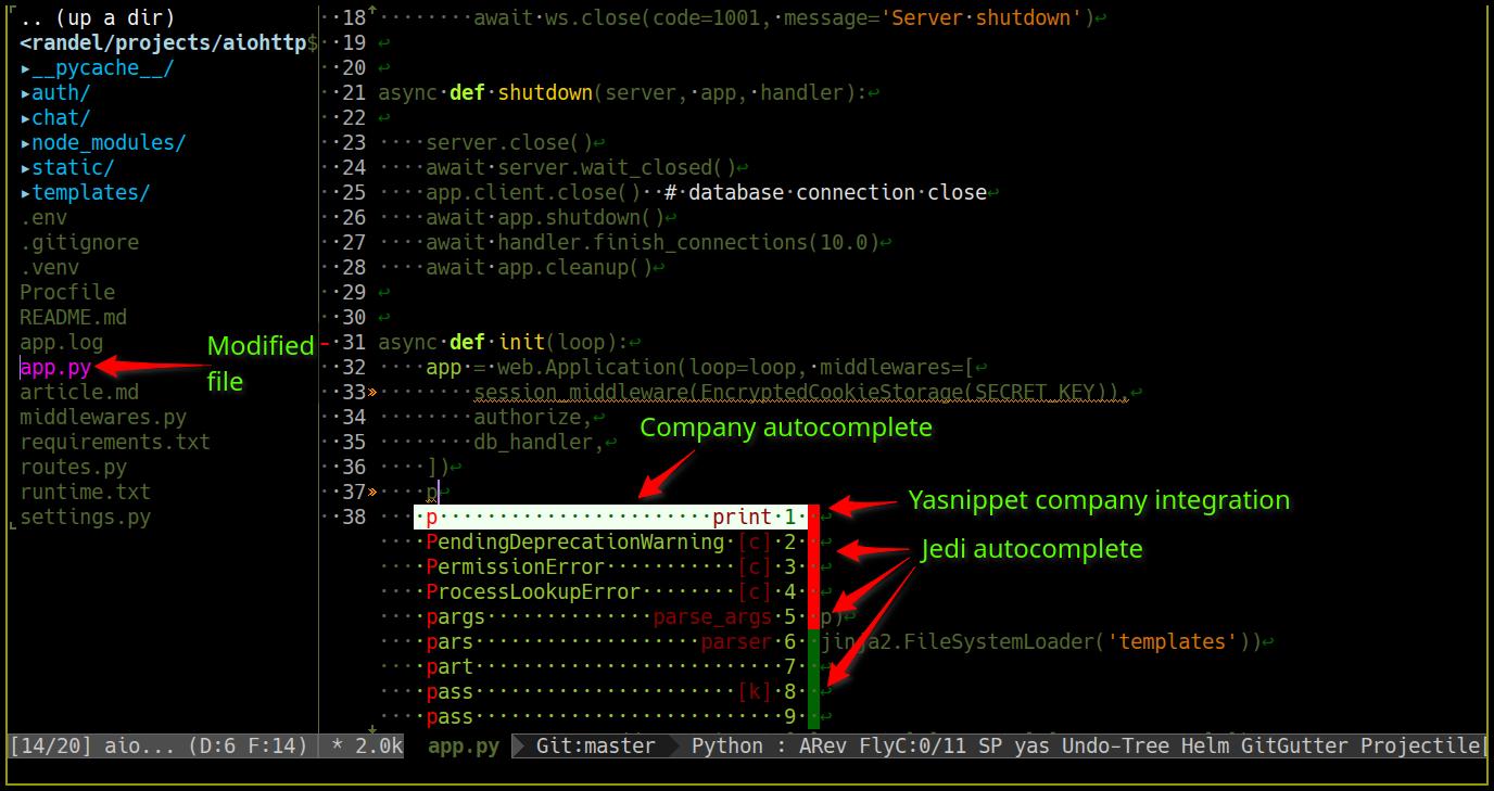 screenshots of editor