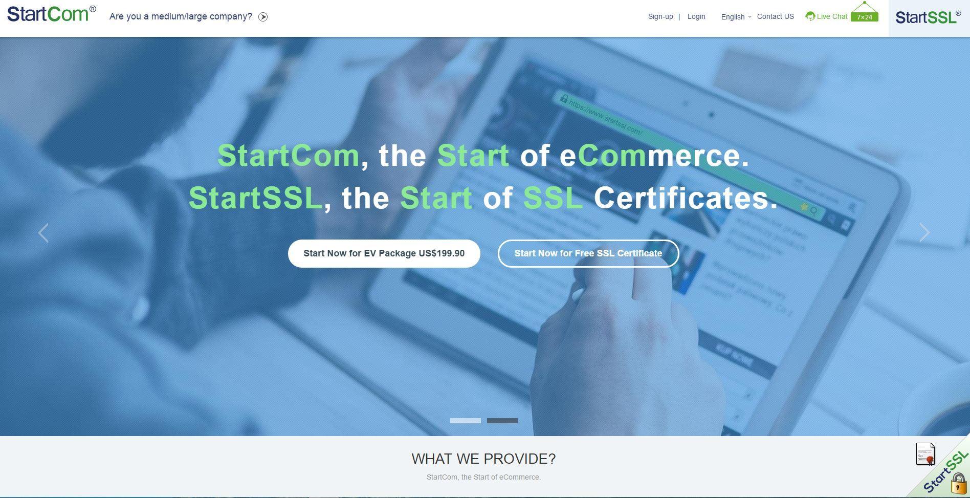 StartCOM: Certificate Transparency, бесплатные* EV SSL сертификаты