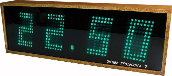 Часы электроника 7 настенные инструкция