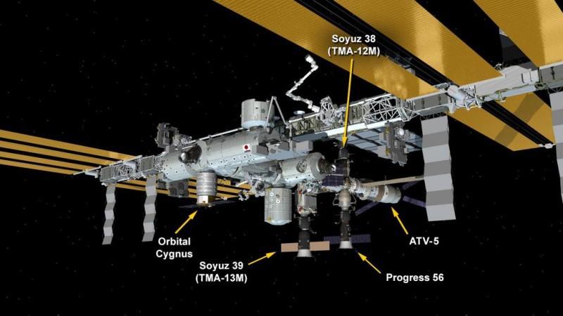 На МКС заняты все доступные стыковочные узлы