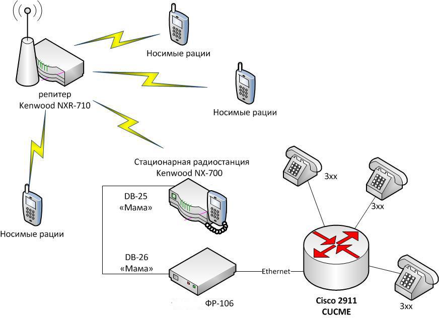 Схема организации ROIP