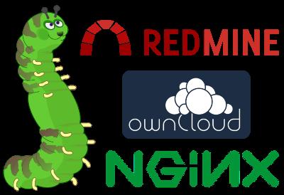 Development environment: Redmine + Git + ownCloud