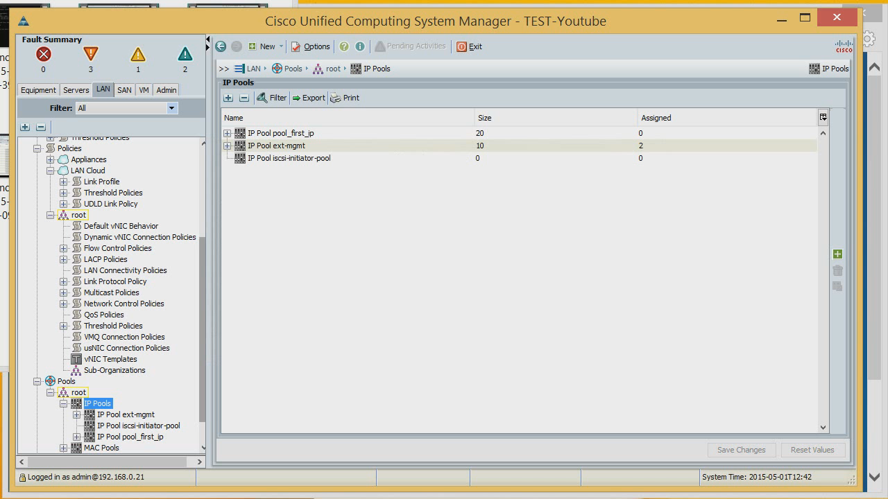 Overview of the initial cisco ucs setup it daily blog for Show pool cisco