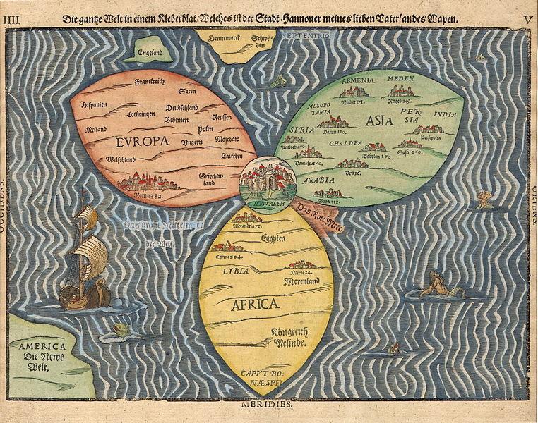 The Bünting Clover Leaf Map, 1581