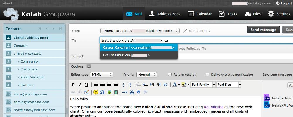 Kolab Groupware (Часть 1 — Обзор)