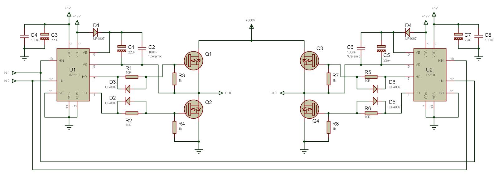 Мост полевых транзисторах схема фото 488