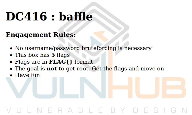 VulnHub: Реверсим всё что можно в DC416 Baffle