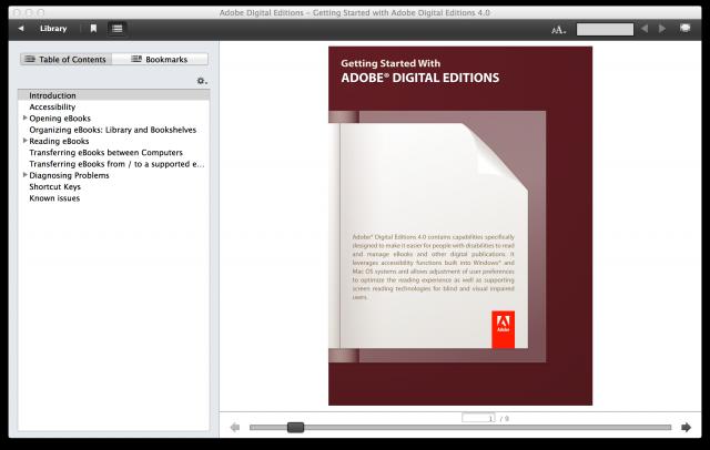 Программа Digital Editions 4 «стучит» в Adobe обо всех открытых файлах