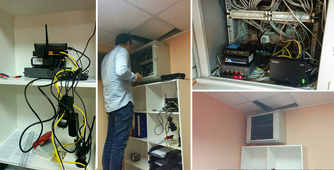 Installation of mini-automatic telephone exchanges